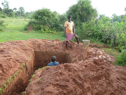 Making a borehole