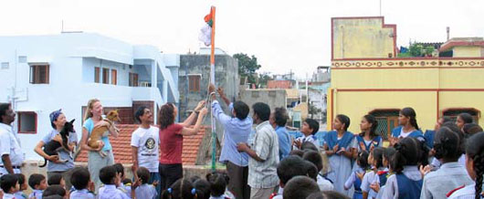 Raising the Flag of India