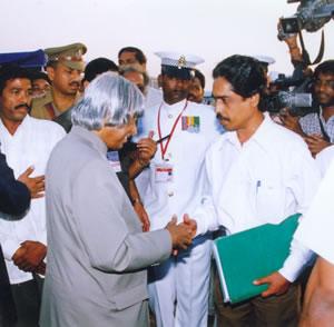 Pradeep meetingA.P.J. Abdul Kalam