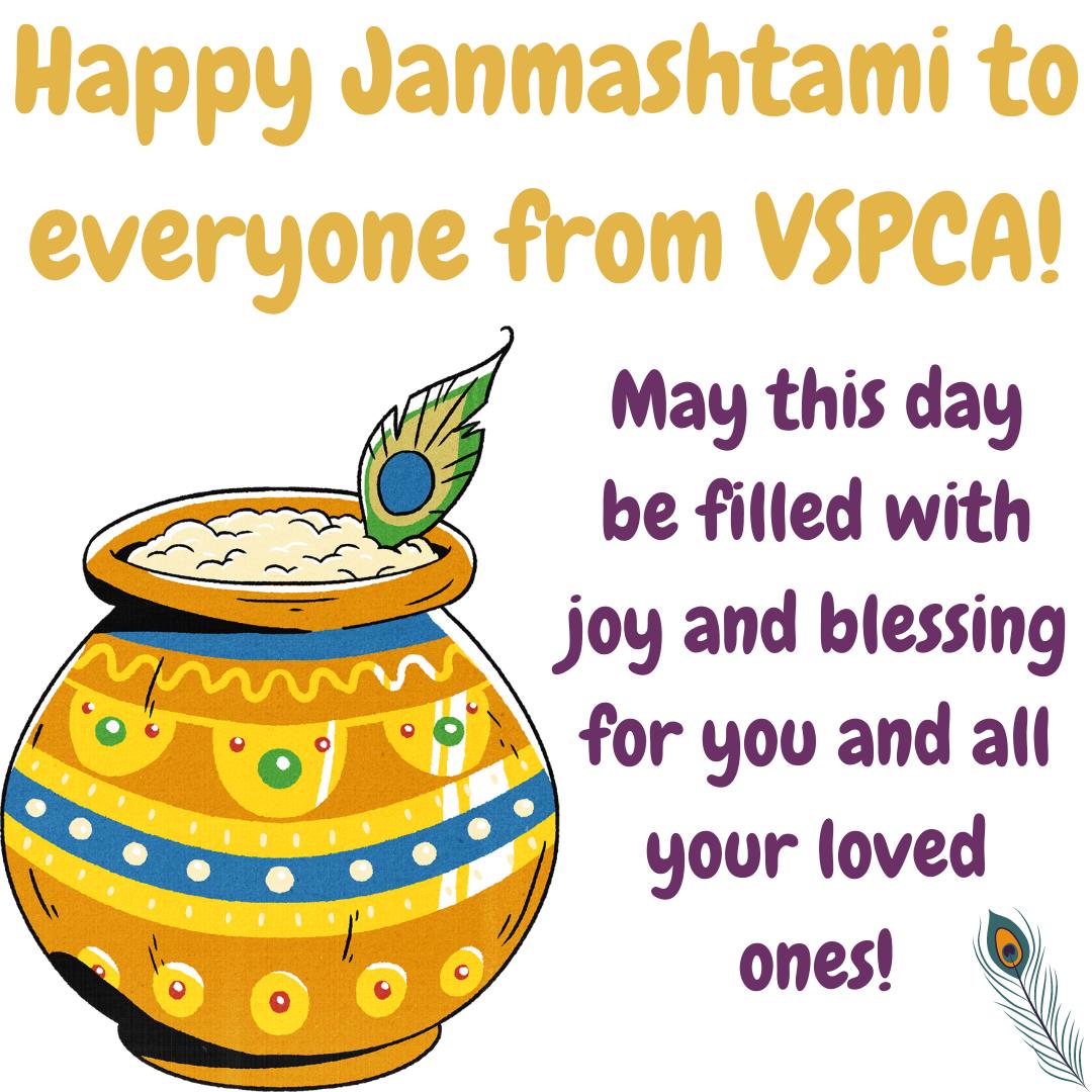 Happy Shree Krishna Janmashtami to all friends and family!